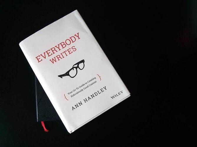 Image of the hardback copy of Everybody Writes