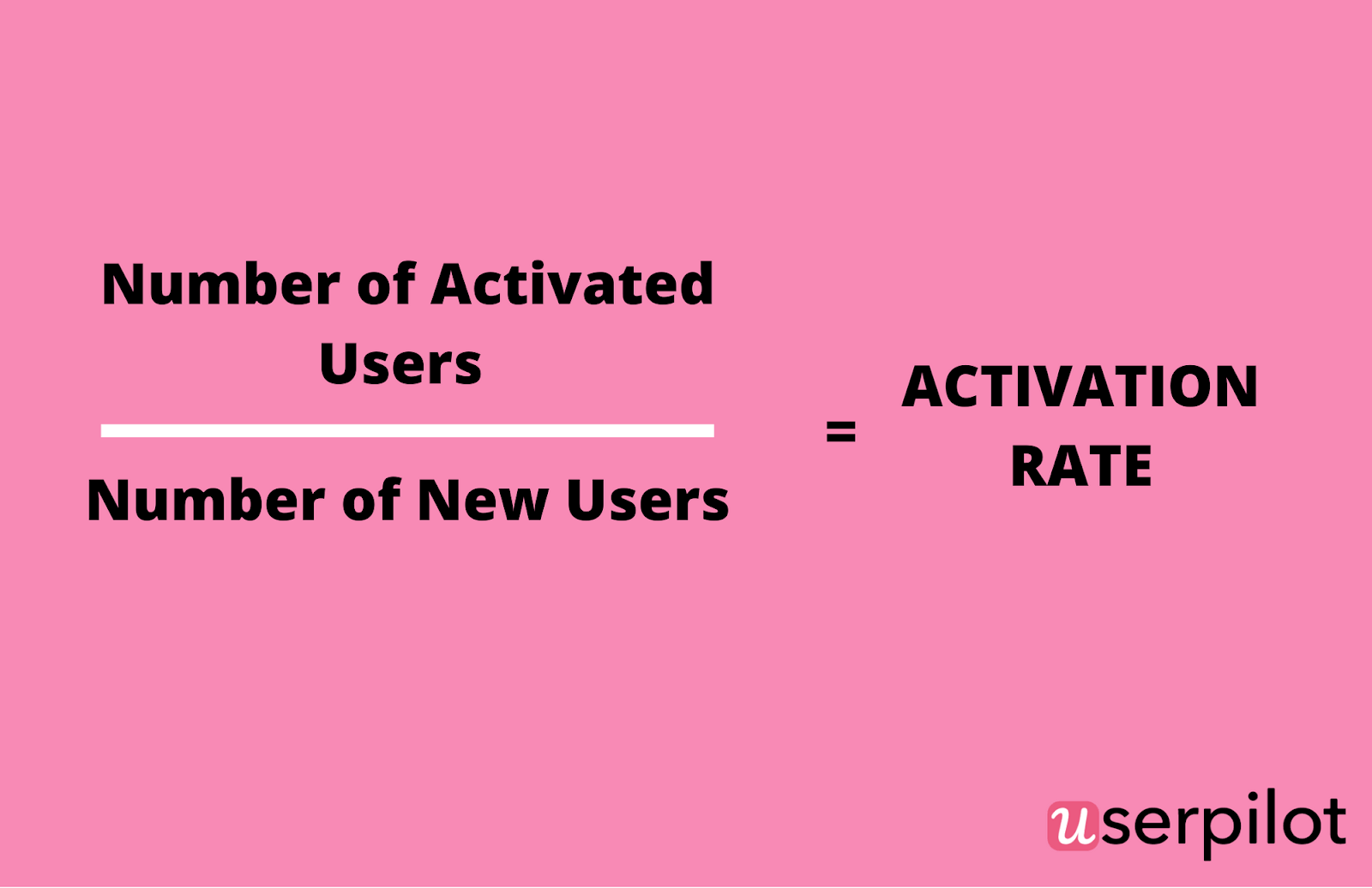 UserPilot activation rate formula